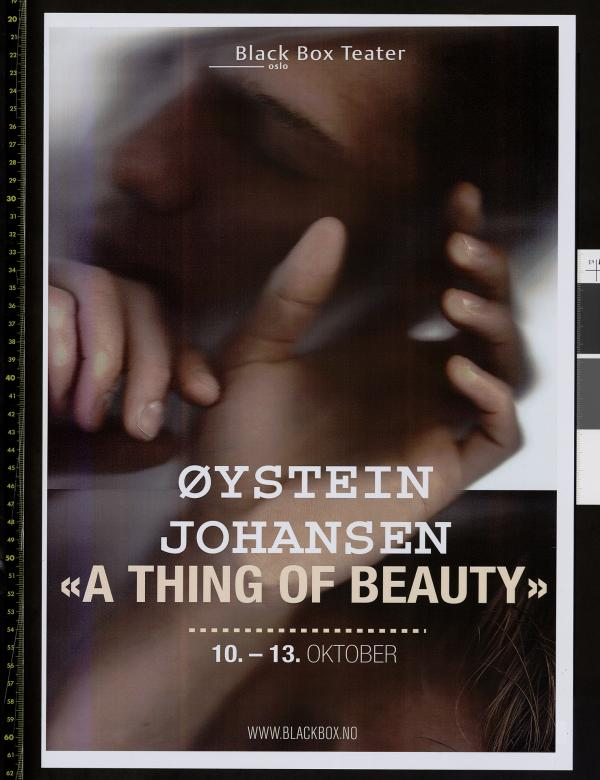 Plakat for Øystein Johansens produksjon A Thing of Beauty (2013).