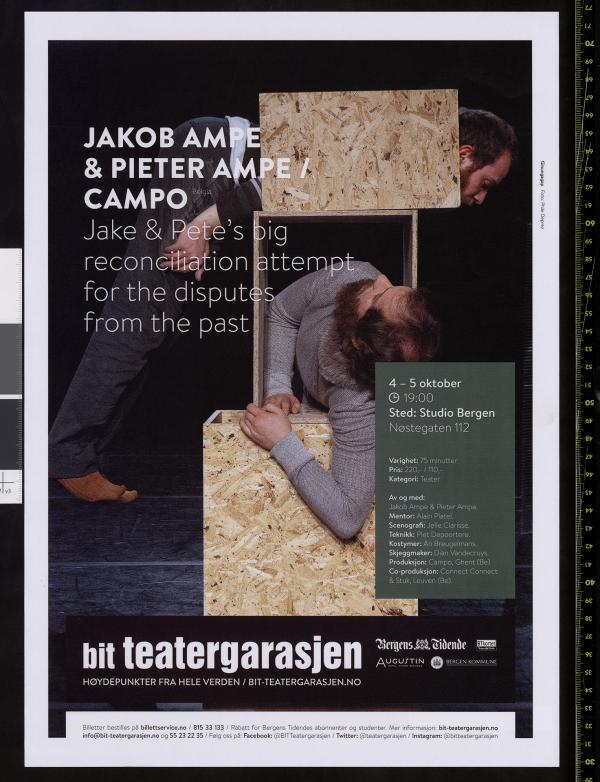 Plakat for Campos produksjon Jake & Pete's big reconciliation attempt for the disputas from the past