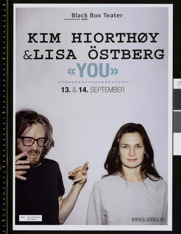 Plakat for Lisa Östberg & Kim Hiorthøys produksjon You (2013).