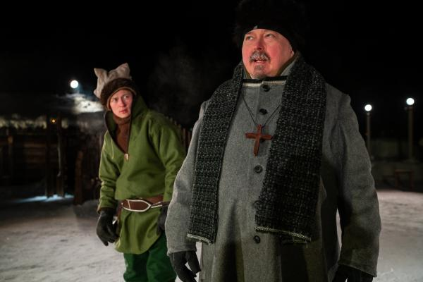 Photo from The National Sami Theatre's production Boil bear (2021)